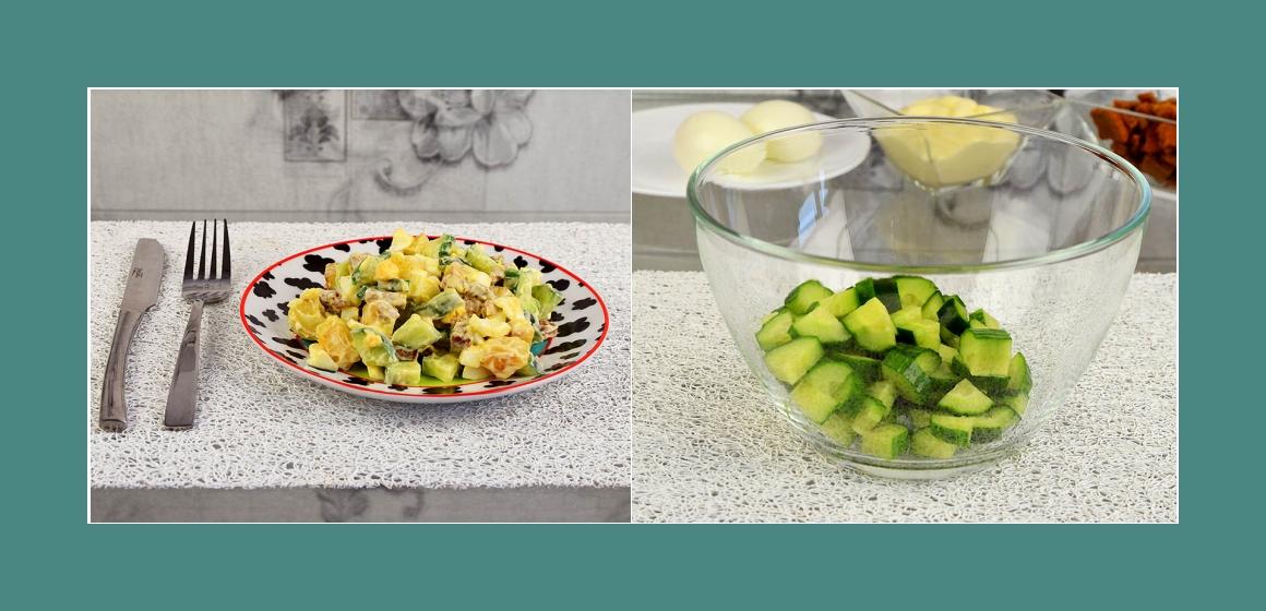einfacher Salat Salat mit Mayonnaise
