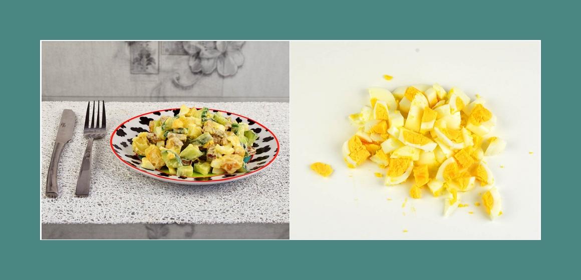 Kartoffel-Eiersalat mit Radieschen