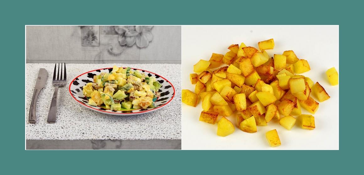 Kartoffelsalat Gurkensalat mit Eiern