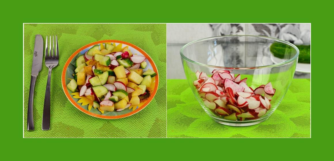 Gemüsesalat leckerer Salat