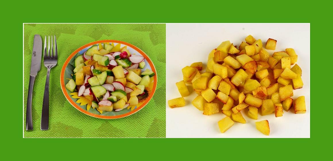 Bratkartoffelsalat Gemüsesalat Rezept