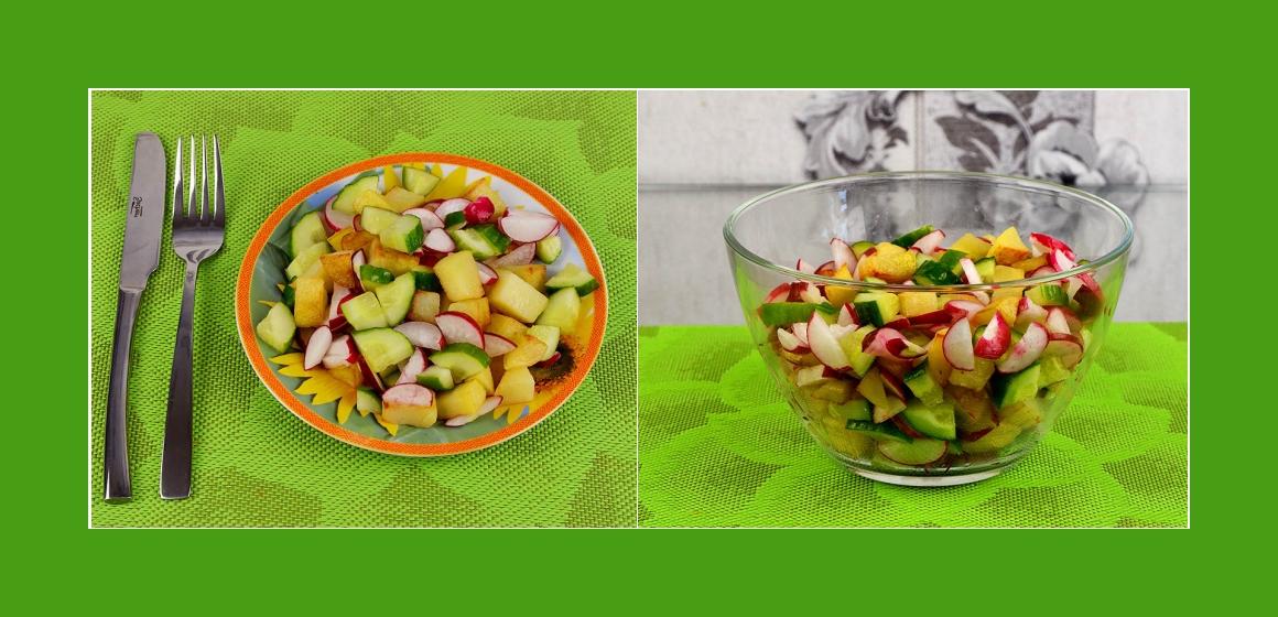 rasanter Salat Kalorien bunter Salat