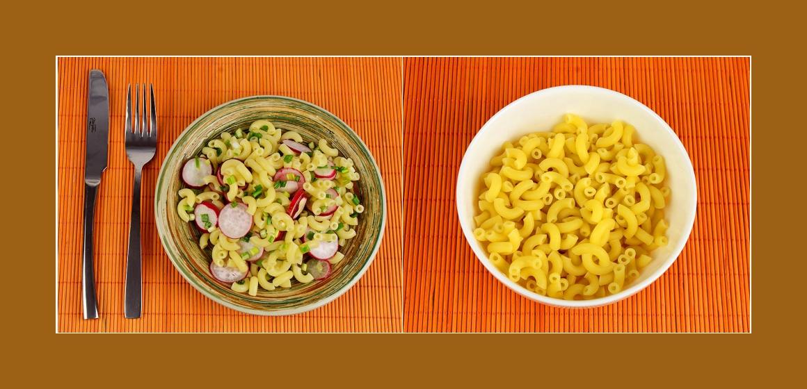 Nudel-Radieschensalat einfacher Salat