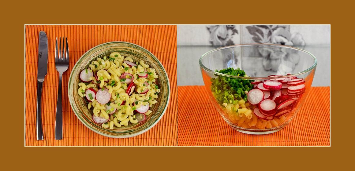 Radieschen-Schnittlauch-Nudelsalat