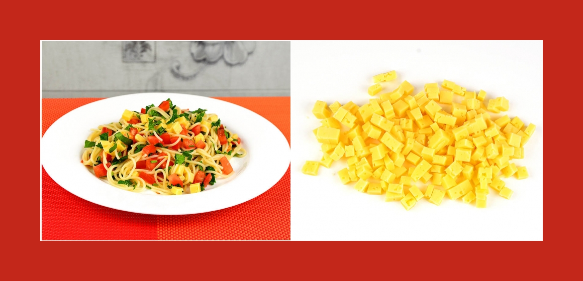 GEmüsesalat mit Käse und Tomaten