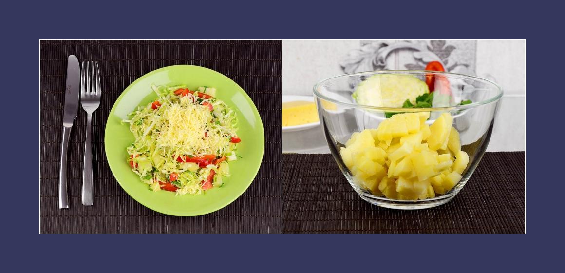Kartoffel-Käsesalat mit Paprika
