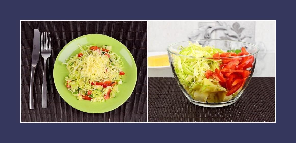 einfacher Salat bunter Salat