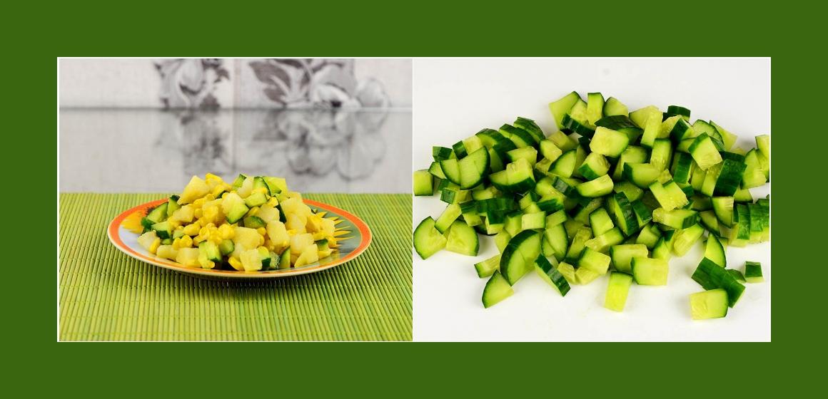 Gurkensalat Kartoffelsalat mit Mais