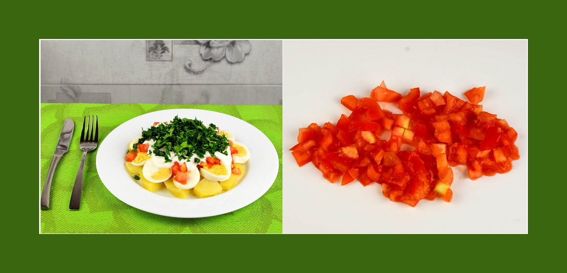 Tomatensalat Kartoffelsalat