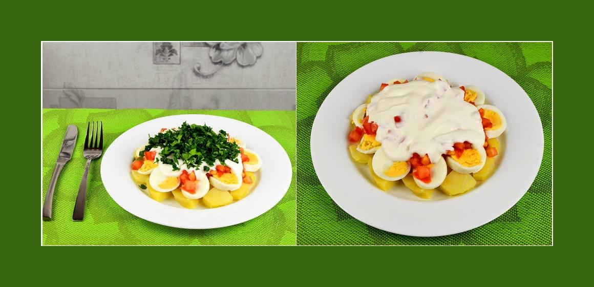 Salat mit Mayonnaise Rezept