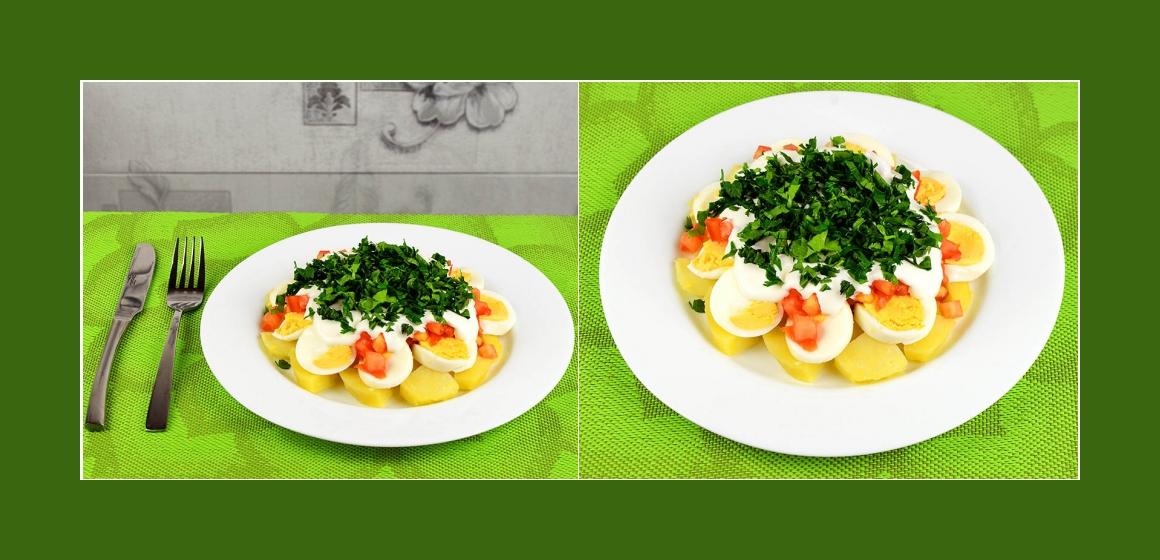 schmackhafter Salat Kalorien