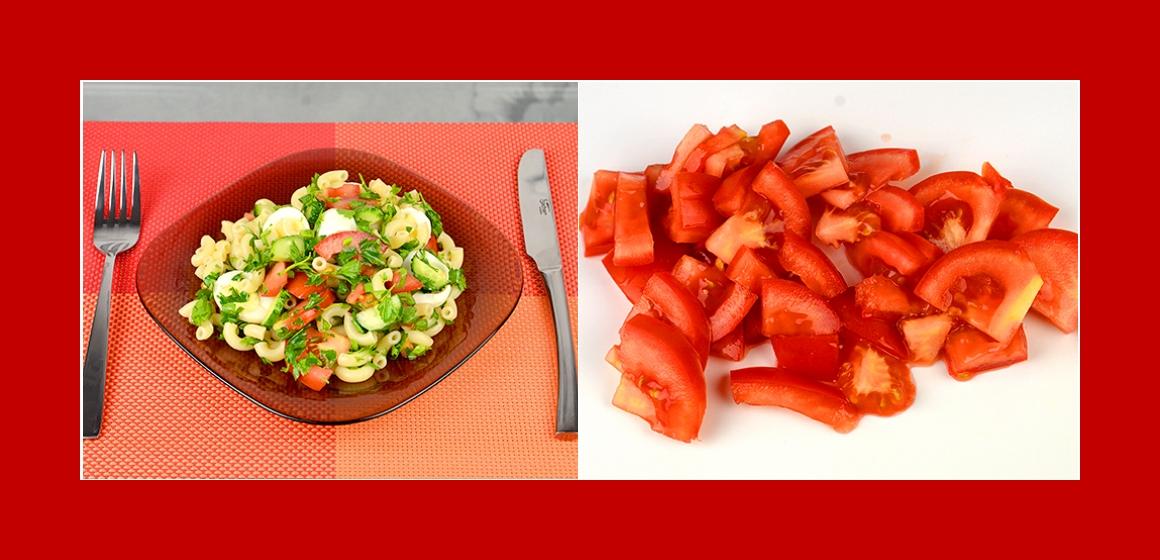 Gemüsesalat mit Nudeln