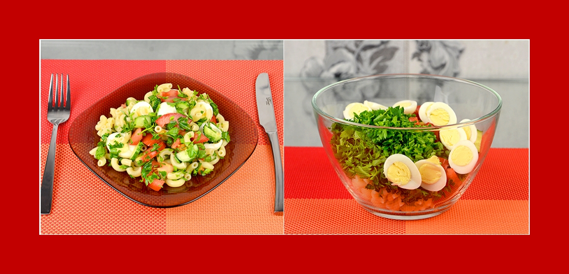 gemischter Salat mit Soße