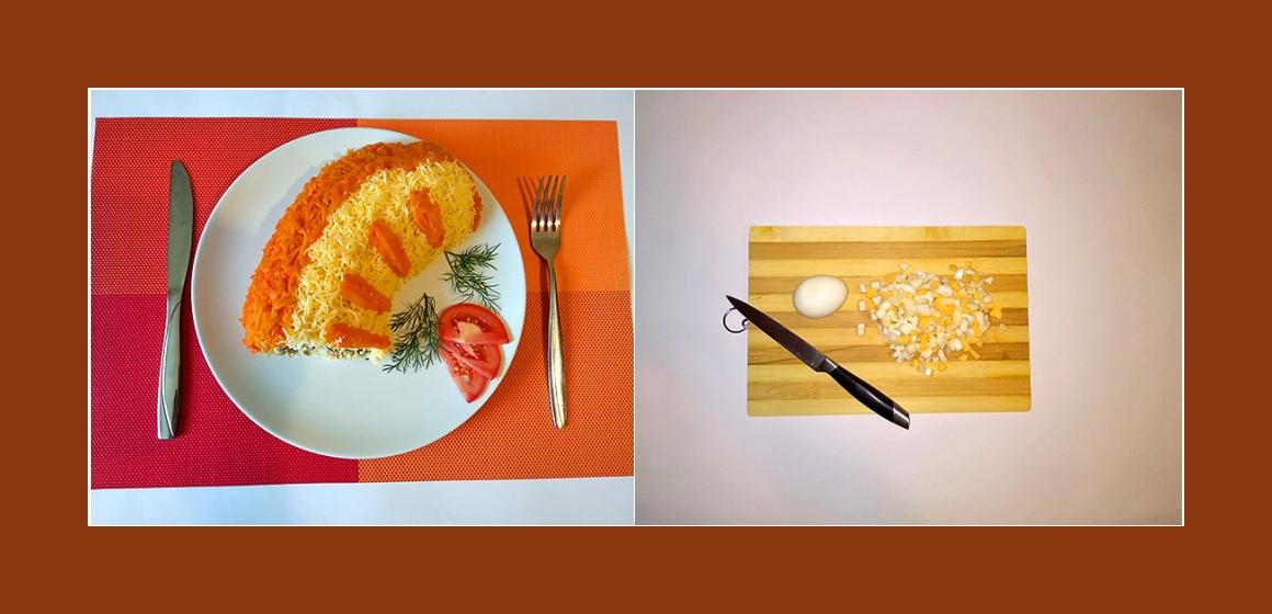 Eier-Möhren-Hähnchensalat