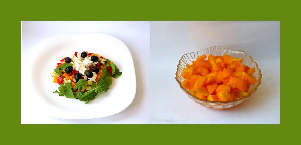vegetarischer Salat Gemüsesalat