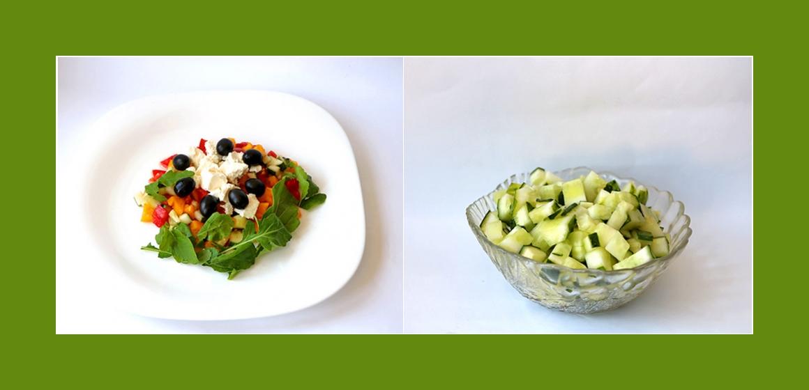 Tomaten-Gurken-Paprika Salat