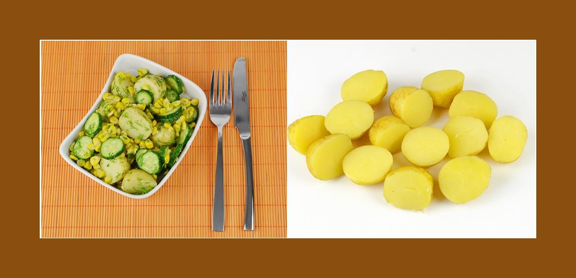 Gurkensalat Kartoffelsalat mit Petersilien