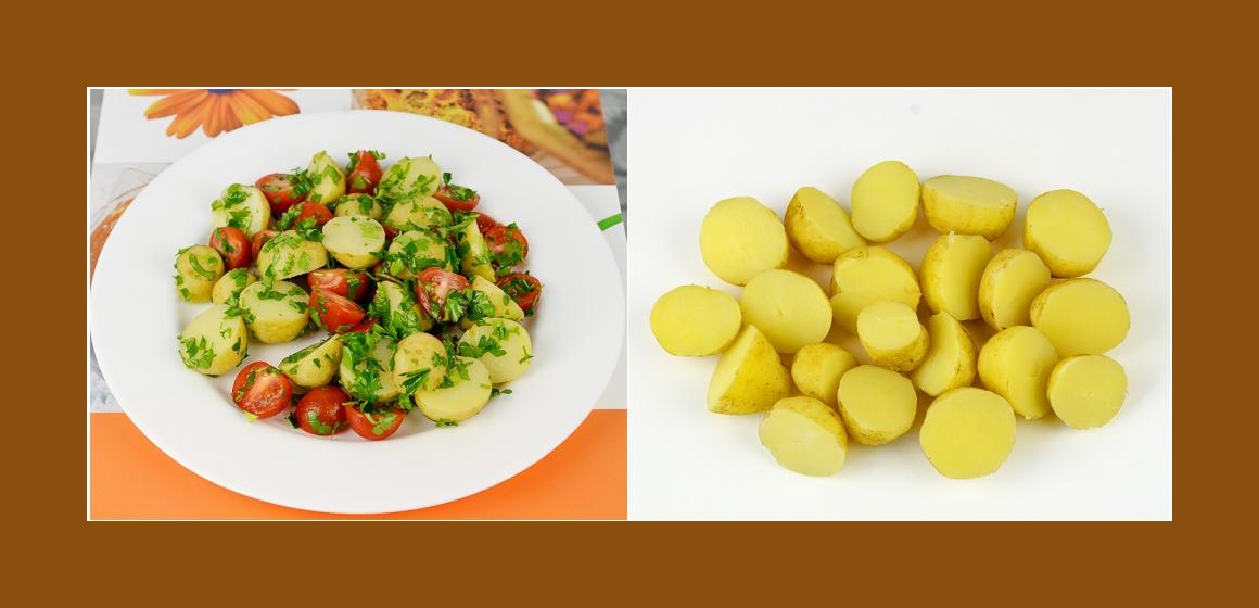 Kartoffelsalat gemischter Salat