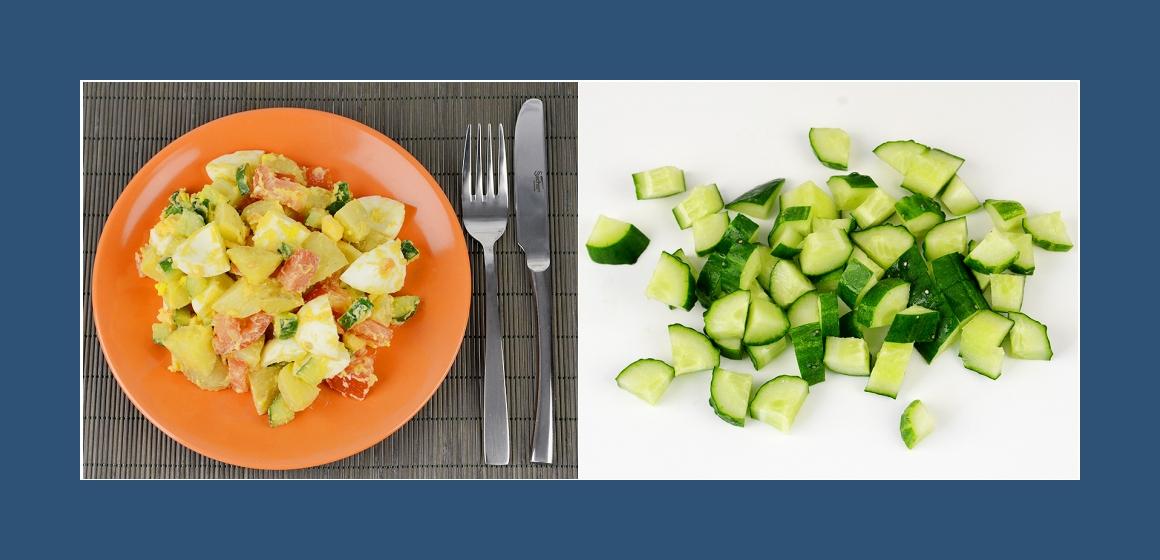 bunter Salat Gemüsesalat mit Eiern