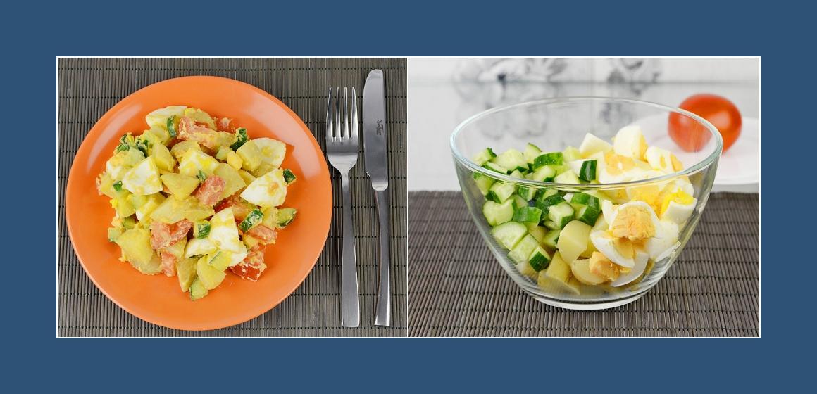 nahrhafter Salat einfacher Salat