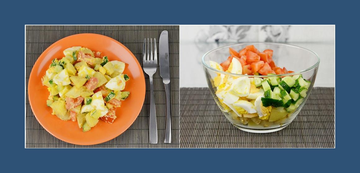 gemischter Frühkartoffelsalat