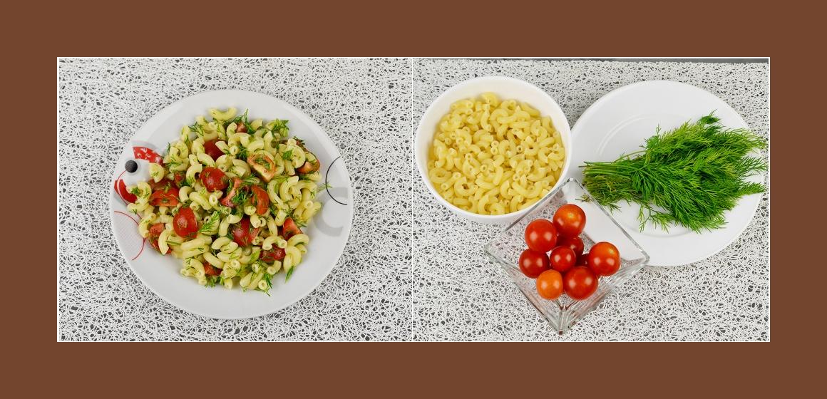 Nudel-Tomatensalat