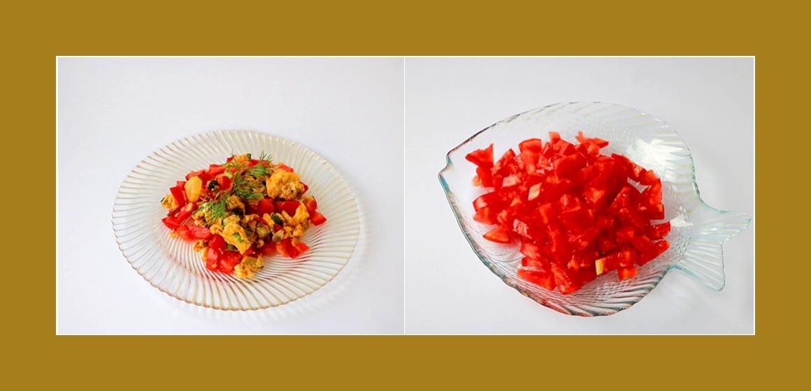 Tomaten-Zucchini Salat