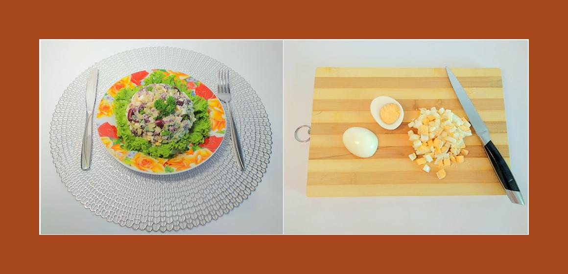 Bohnen-Gurken-Eiersalat