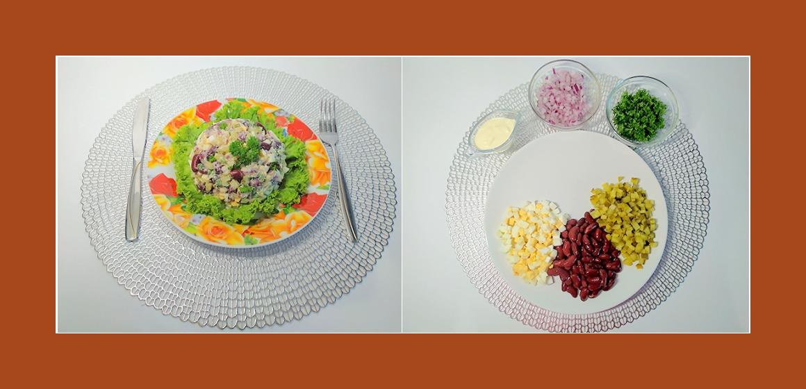 bunter Salat schmackhafter Salat