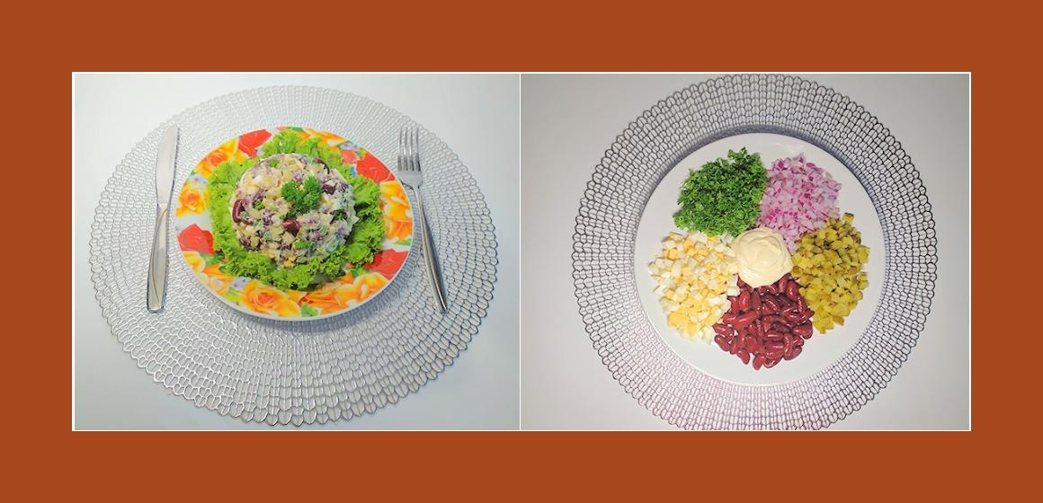 gemis hter Salat mit Bohnen