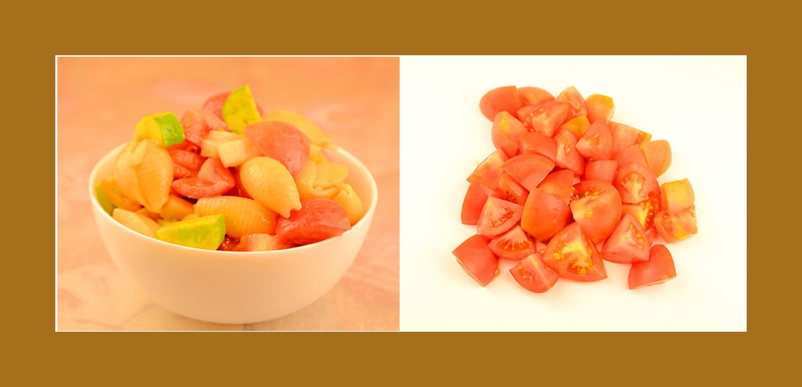 Nudel-Tomatesalat