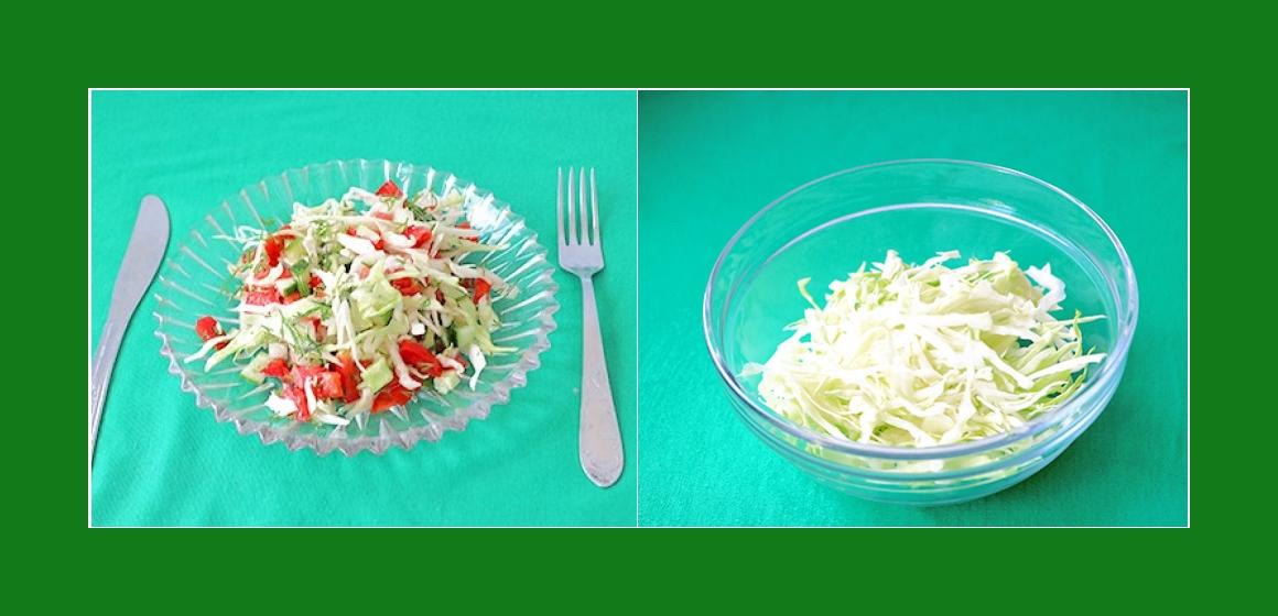 Kohl-Gurken-Tomatensalat