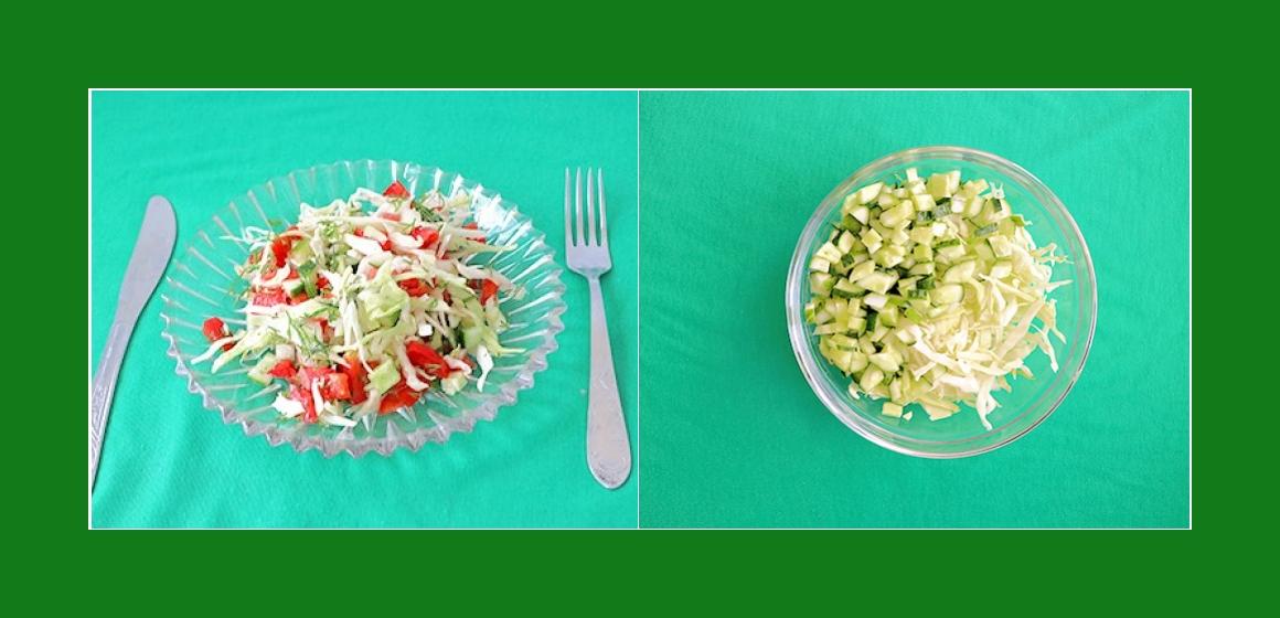 einfacher Salat Salat zum Grillen