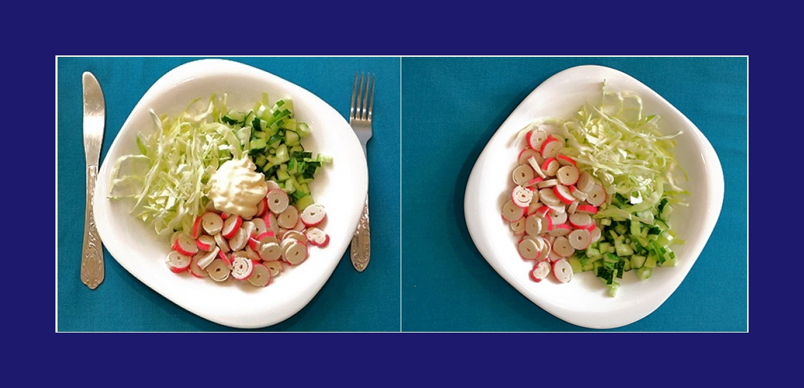 Salat mit Mayonnaise bunter Salat