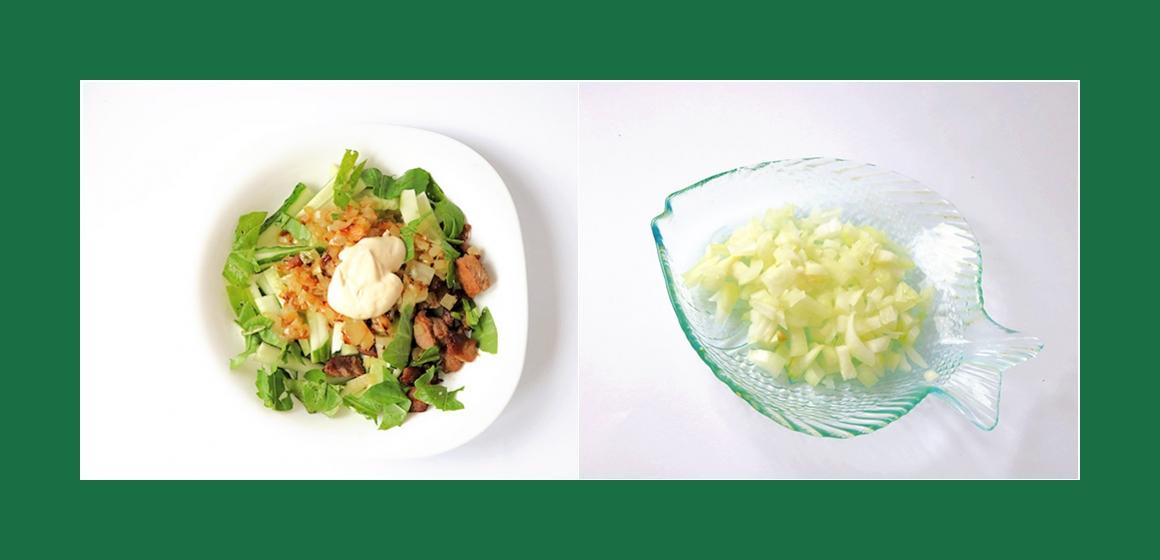 Fleischsalat Gemüsesalat mit Sahne