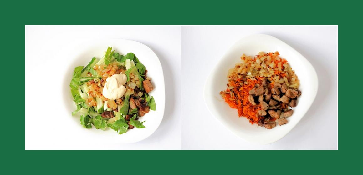 pikanter Salat mit Sahne