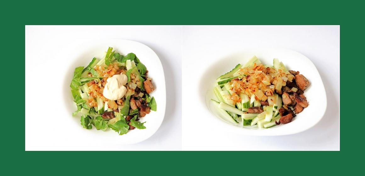 einfacher Salat Fleischsalat
