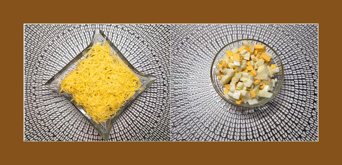 bunter Salat mit Mayonnaise