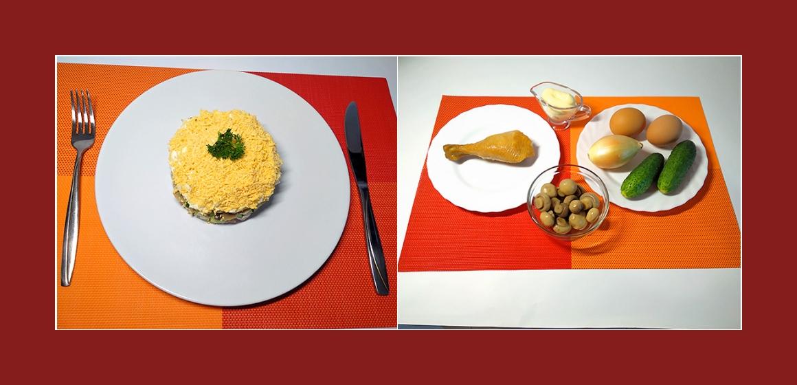 Sanfter Gurken-Tomatensalat mit geräuchertem Hühnerfleisch Mais  Oliven