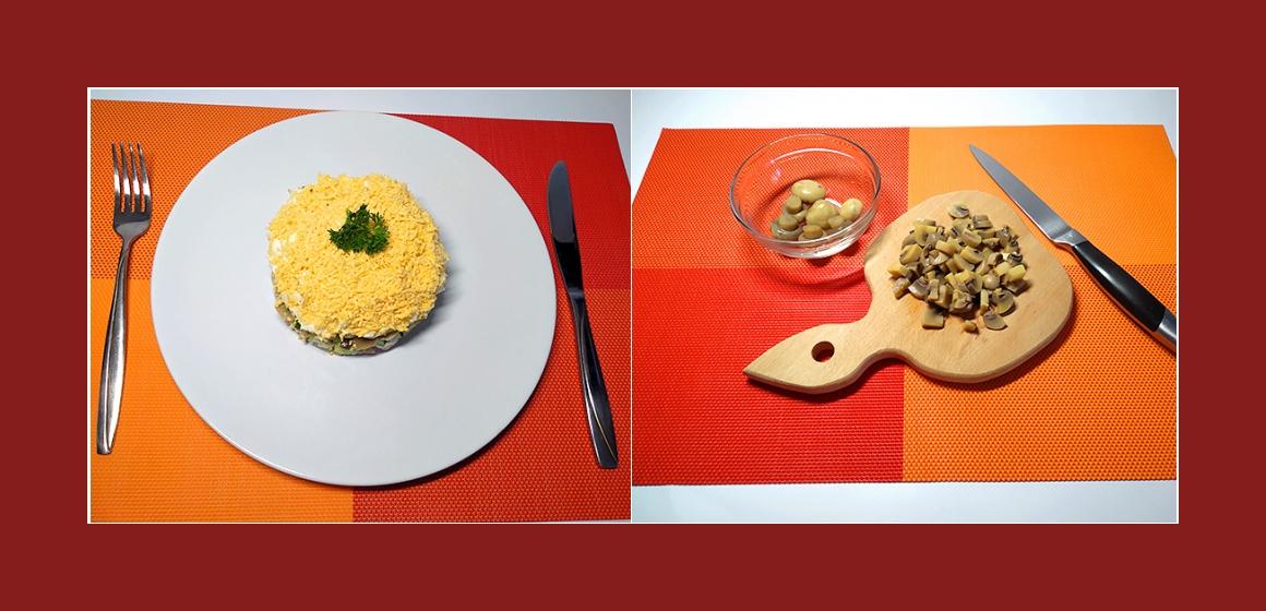 Salat mit Mais und Oliven