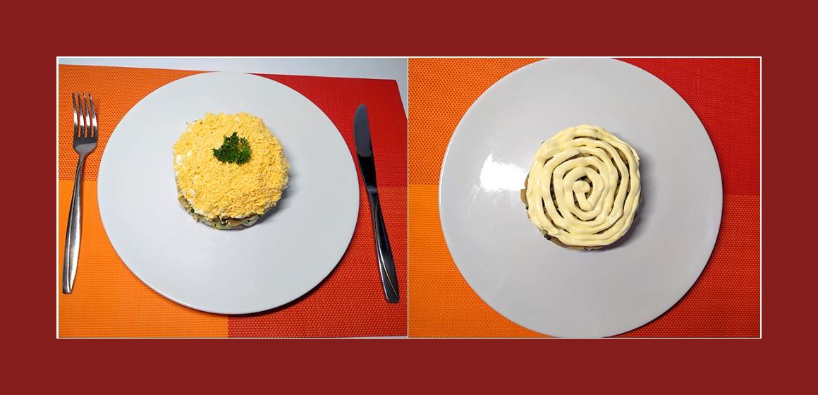 schmackhafter Schichtsalat
