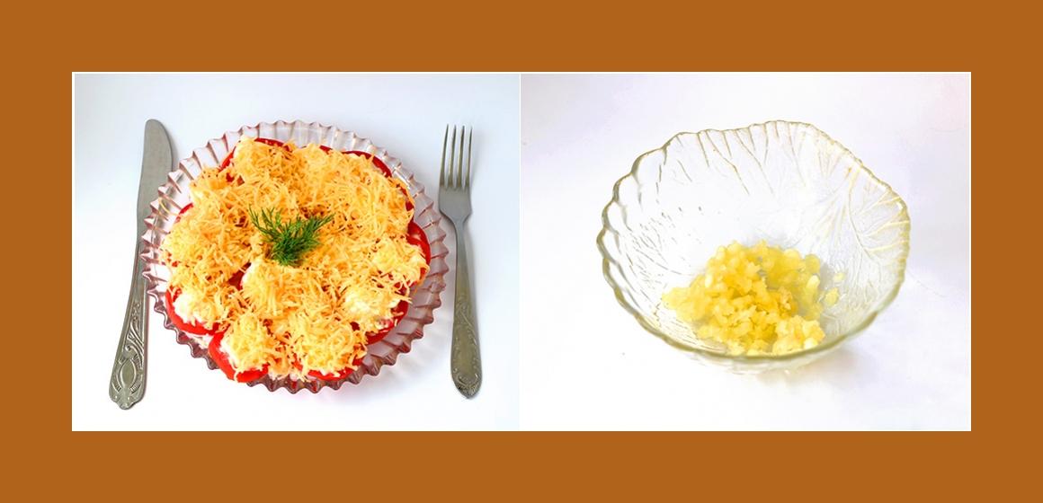 Salat mit Knoblauch