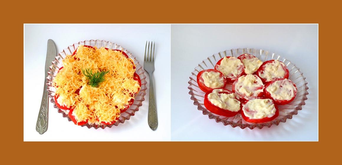 Schichtsalat mit Käse