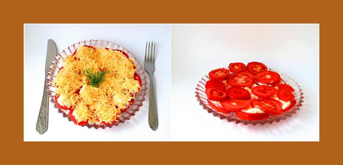 Tomatensalat mit Mayonnaise
