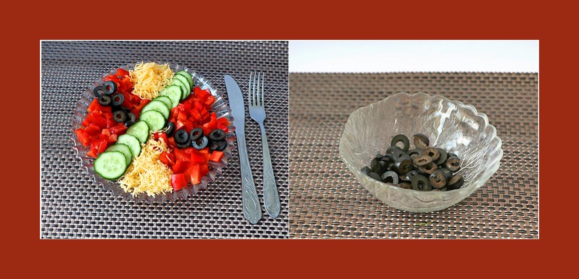 Tomaten-Oliven-Gurkensalat