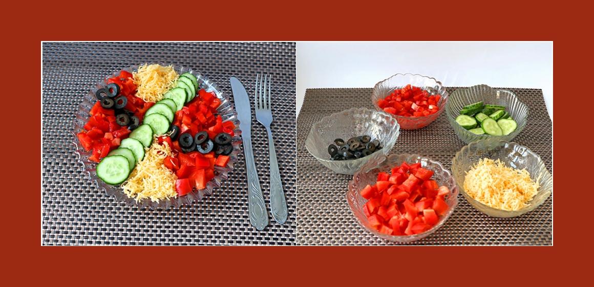 gemischter Salat sanfter Salat