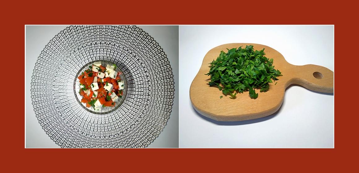 bunter Salat sanfter Salat