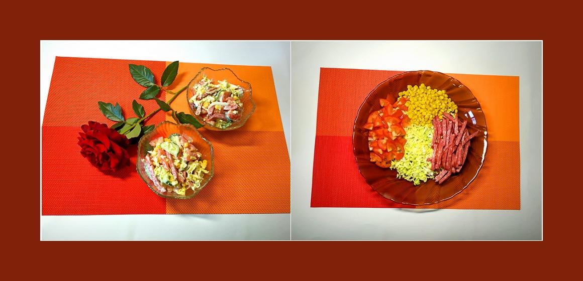 sanfter Salat nahrhafter Salat