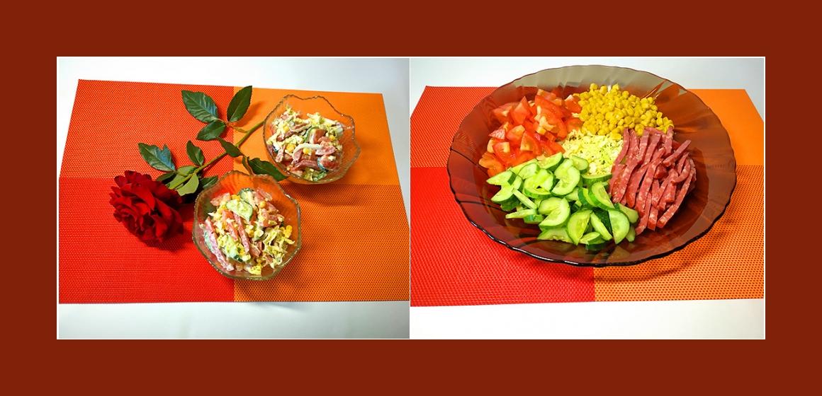 gemischter Salat mit Mayonnaise