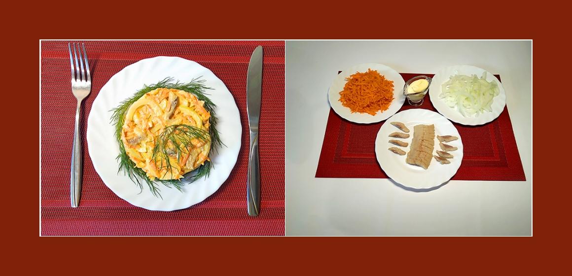 Möhren-Hering-Salat